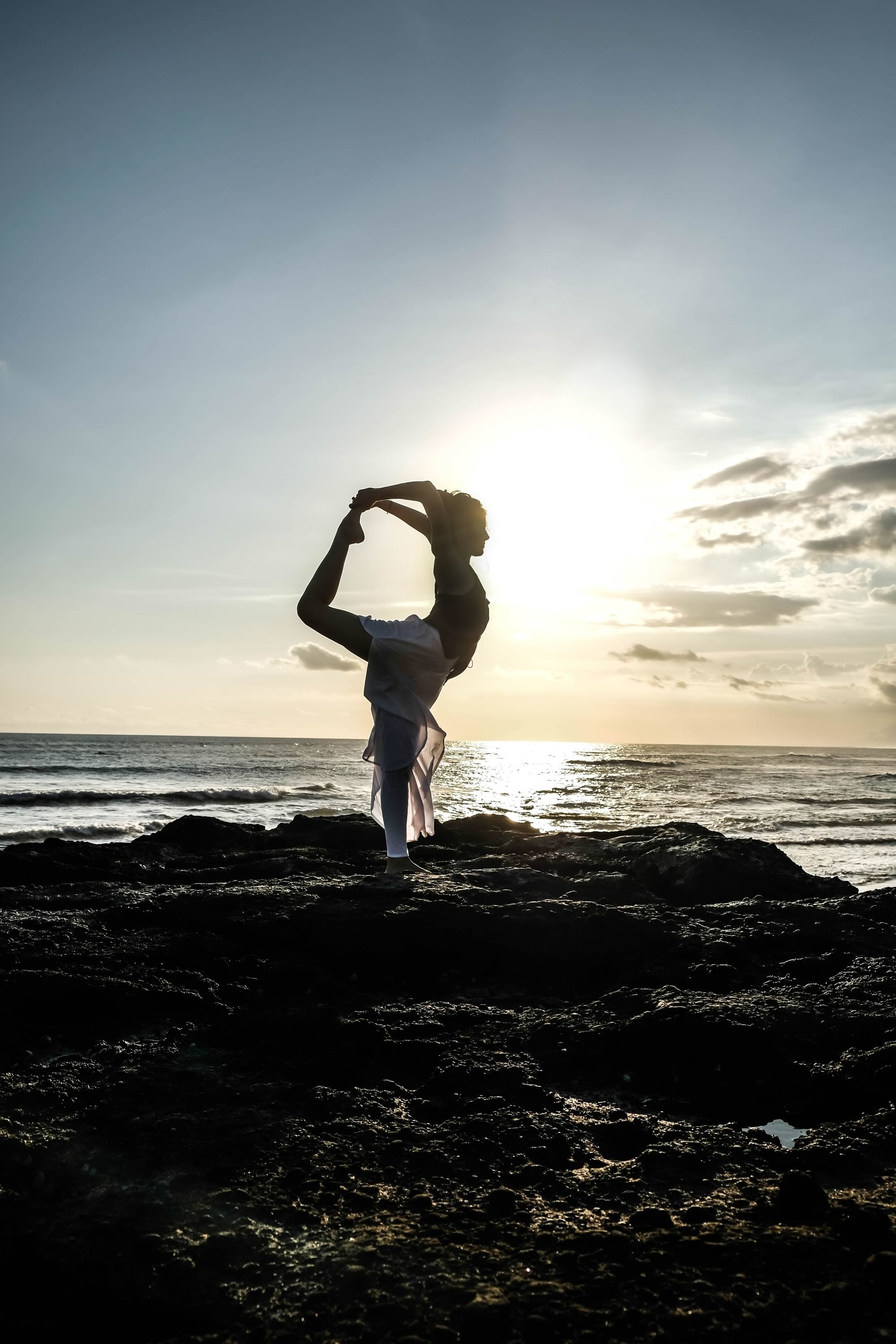 Yoga Pose Sunset Bali